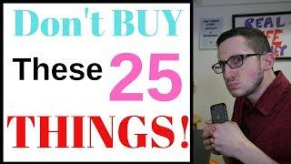 Minimalist Frugal Living - 25 Things I DON'T BUY! (Worth It?) 💸