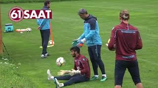 Trabzonspor'da kalecilerin refleks antrenmanı...