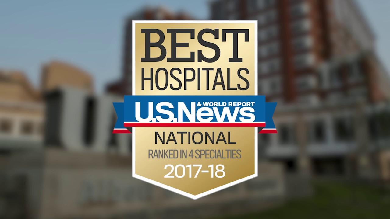 UK HealthCare U.S. News & World Report Rankings 2017
