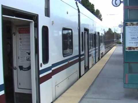 VTA Electric Train - Mountain View Station, California