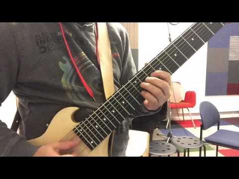 ronb8 funky bluesy plucking - tapping 150912b s ron baggerman 8-string bass - guitar erb erg