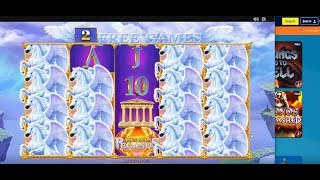 King of Olympus.Age of the Gods.Ruler of the Sky.Jackpots William Hill game slot Must Drop.