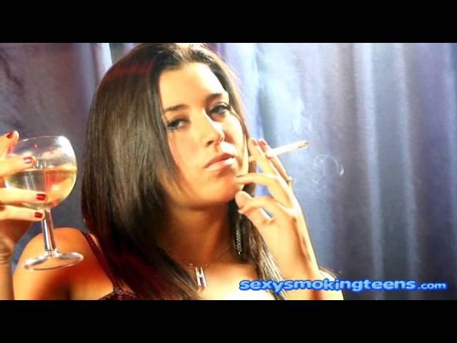 Hot smoking teen