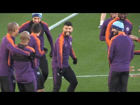 Manchester City Train Ahead Of Champions League Match Against Shakhtar Donetsk Mp3