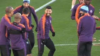 Manchester City Train Ahead Of Champions League Match Against Shakhtar Donetsk