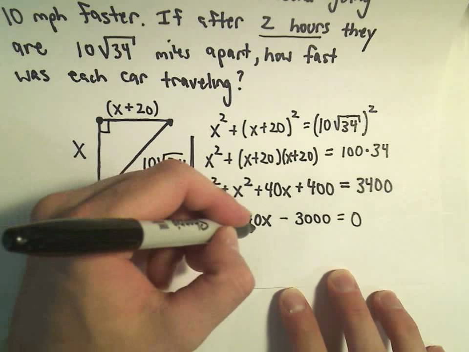 Word Problems Using the Pythagorean Theorem Example 3 YouTube – Math Pythagorean Theorem Word Problems Worksheets