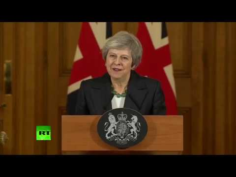 LIVE: Theresa May makes statement inside Downing Street