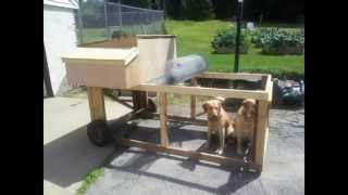 Simple Chicken Tractor Built On A Budget: Diy