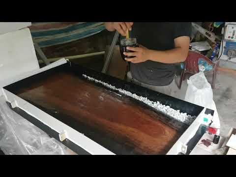 [Epoxy][Chia sẻ] Quy trình đổ epoxy mặt bàn