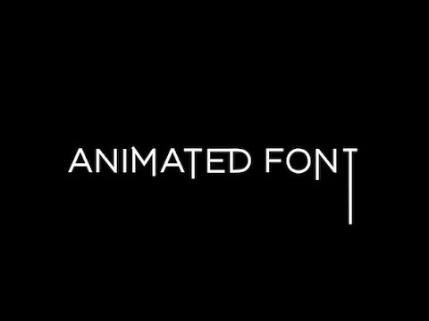 Animated Sans-serif Font | After Effects template