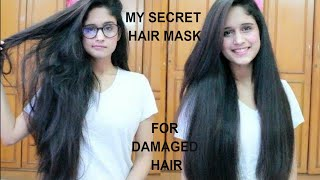 My Hair Care Routine For Dry, Damaged And Frizzy Hair | At Home :)