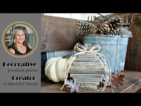 DIY Wood Farmhouse Style Pumpkin Decor