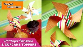 Video TUTORIAL on  How To Make Paper Pinwheels