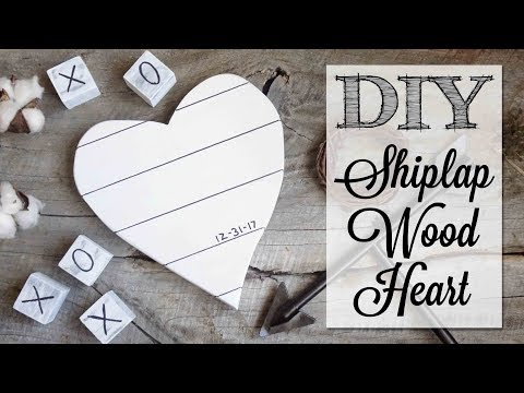 DIY Farmhouse Shiplap Wood Heart
