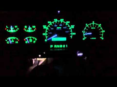92 96 Bronco F 150 Led Gauge Lights Dimming Youtube