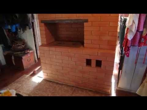 Строительство печки в деревенском доме.