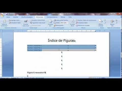 Como Insertar O Crear índice De Figuras O Cuadros En Word