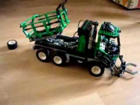 lego technic camion code pilote truck bare code youtube. Black Bedroom Furniture Sets. Home Design Ideas
