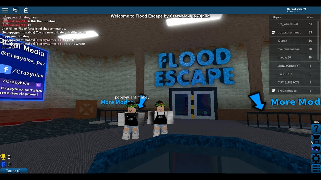 Playing Roblox Tower Of Heck Hell And Flood Escape Youtube