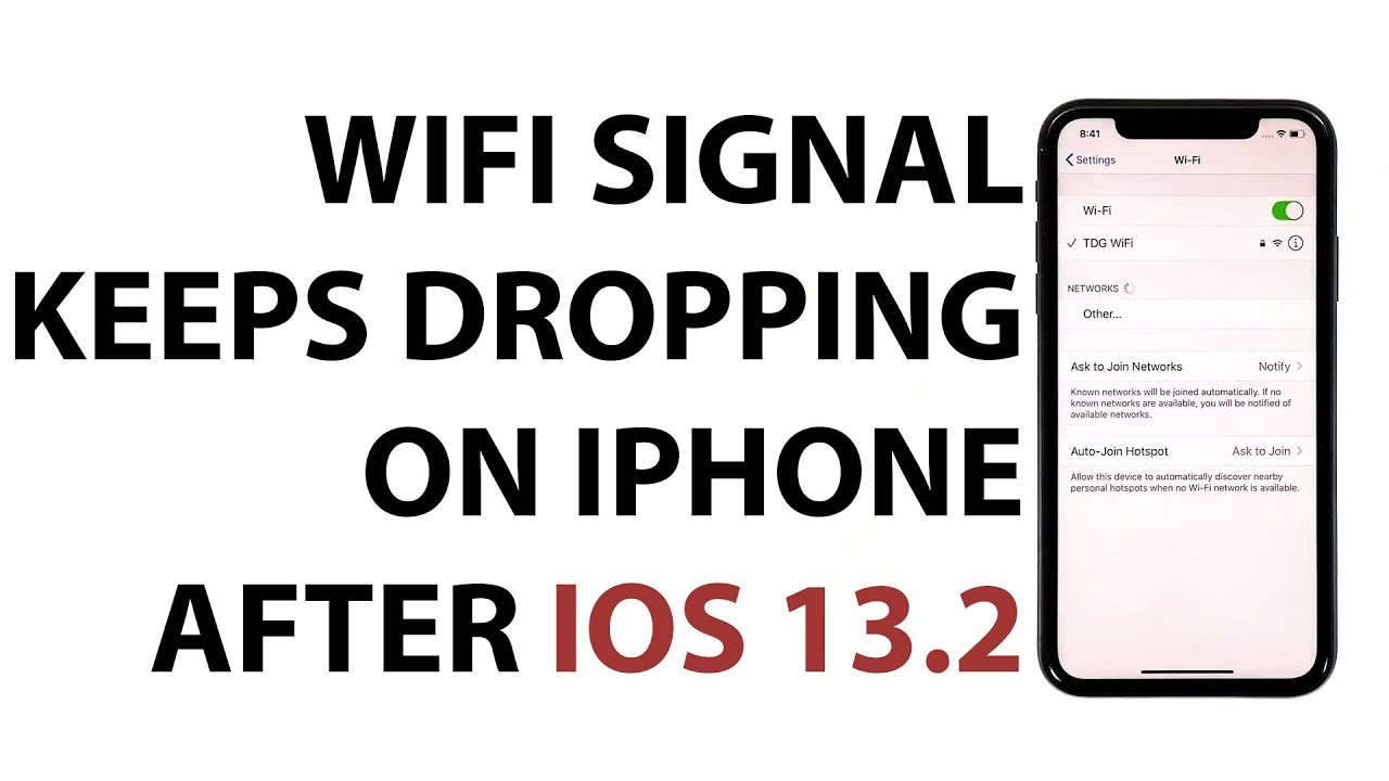 iPhone WiFi signal keeps dropping after iOS 13.2.3 update