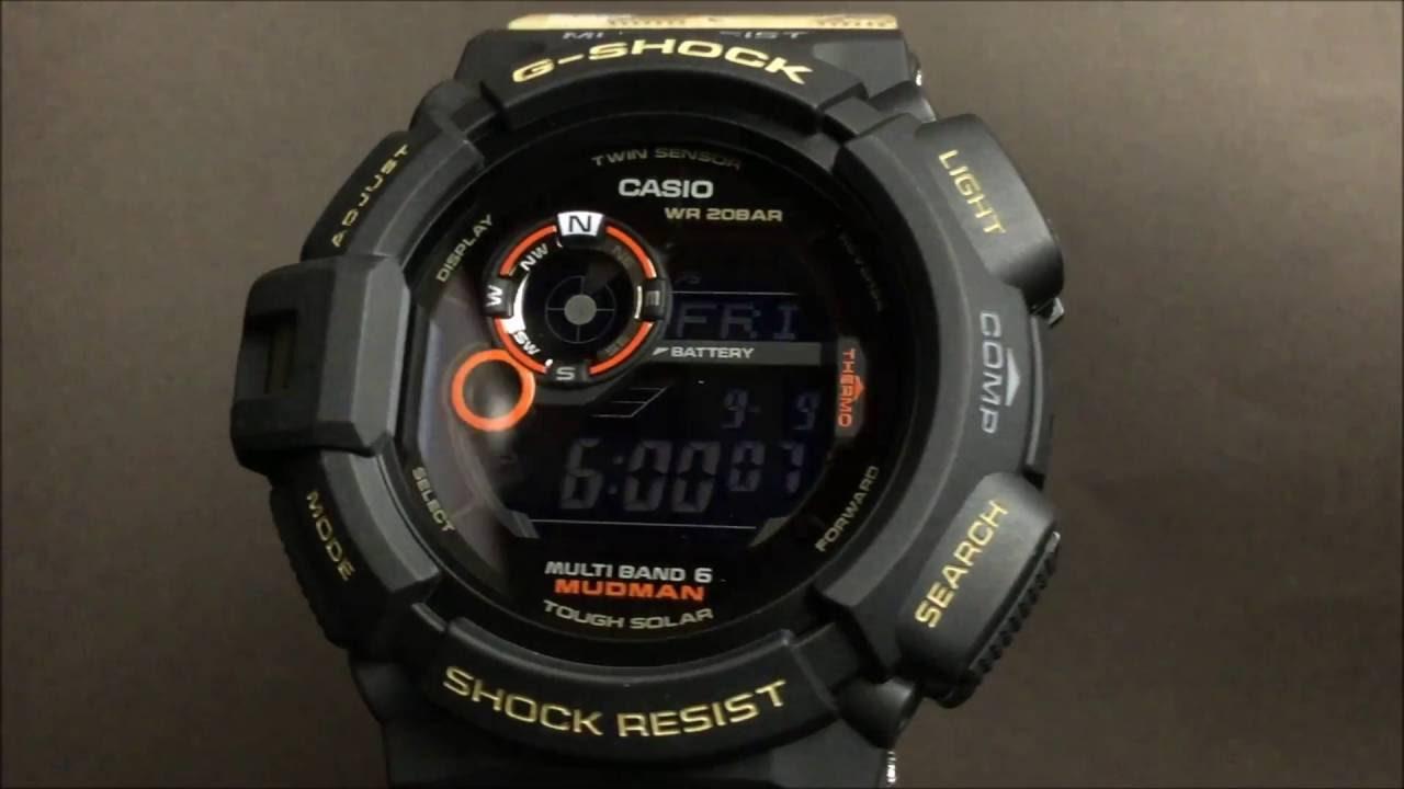 11e756b6a5 CASIO G-SHOCK MUDMAN カシオGショック マッドマン ソーラー電波腕時計 GW-9300DC-1JF - YouTube