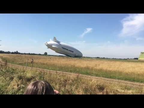 Se estrelló el dirigible Airlander, el objeto volador más grande del mundo