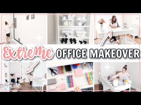 EXTREME OFFICE ORGANIZING MAKEOVER | Office Organization Ideas | DECLUTTER