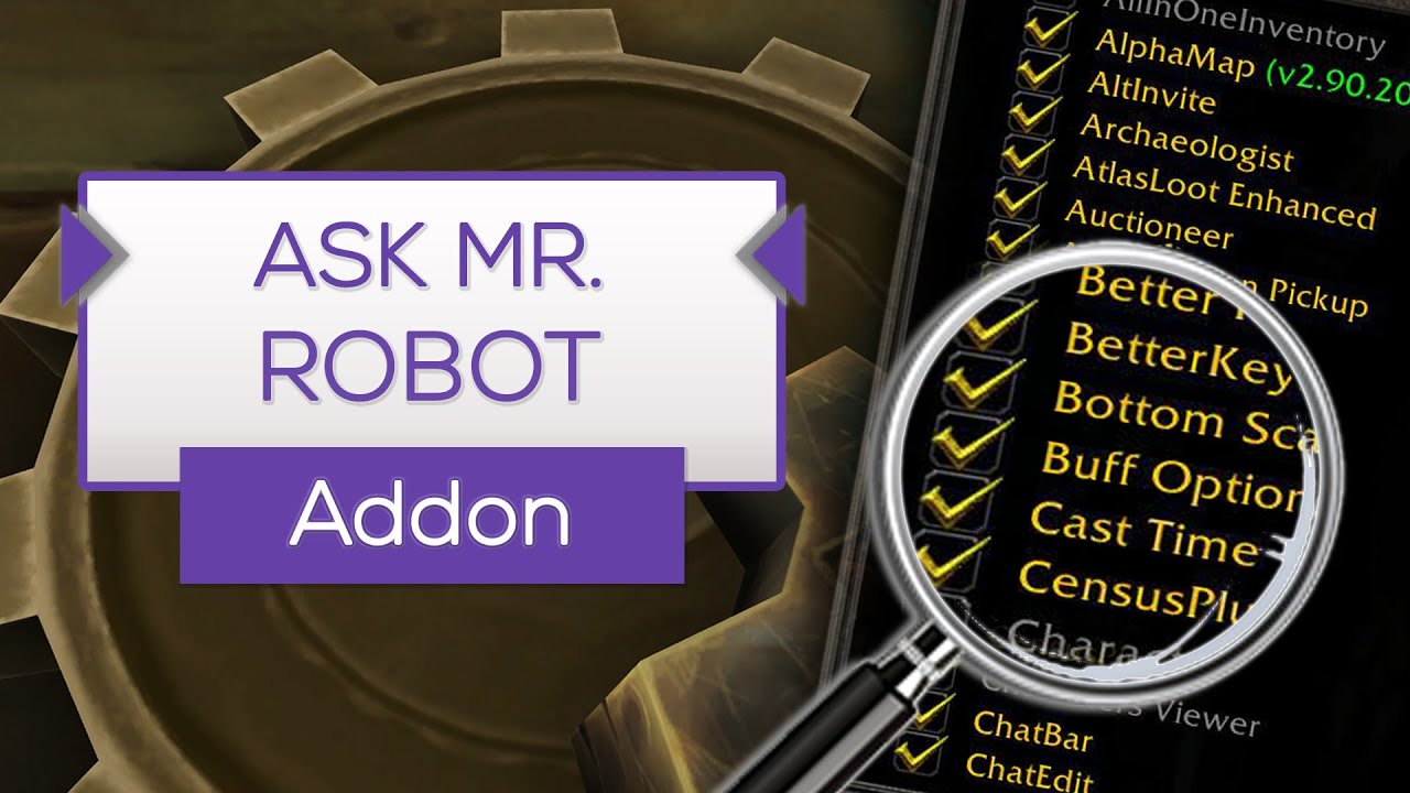 Ask Mr. Robot | Charaktere optimieren! - Addon Tipp [WoW] - YouTube