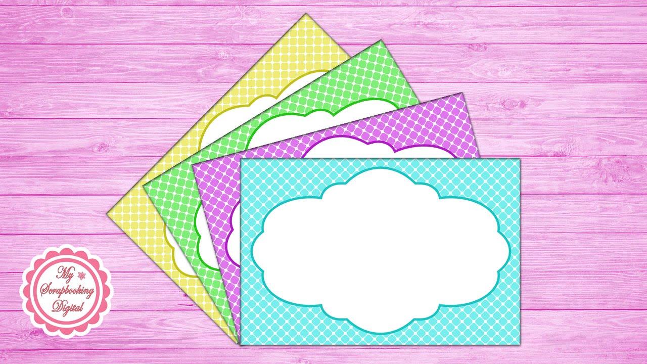 Cómo Hacer un Marco para Invitaciones en Photoshop - Diseño 2 - YouTube