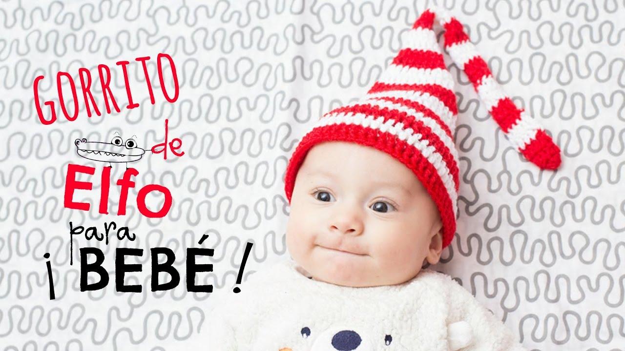 Gorrito de Elfo navideño para bebé - YouTube