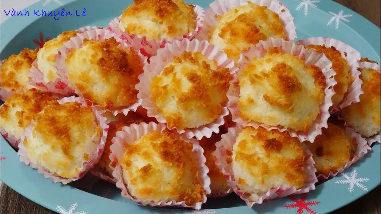 BÁNH DỪA – Cách làm món Bánh Dừa nướng – Kokomakronen kiểu Đức, không dùng Máy by Vanh Khuyen