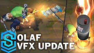 Olaf Visual Effect Update - All Skins Comparison   League Of Legends