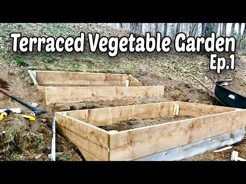 How to Make Terraced Raised Beds for Vegetable Gardening - E.1