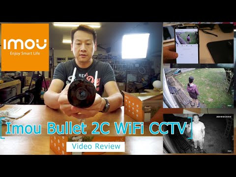 IMOU Bullet 2C Outdoor WiFi IP Security Camera 1080p with AI Human Motion Detection review by Benson