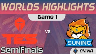 TES vs SN Highlights Game 1 Semifinals Worlds 2020 Playoffs Top Esports vs Suning by Onivia
