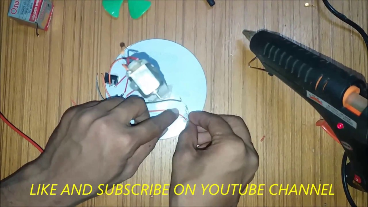 how to make fan at home