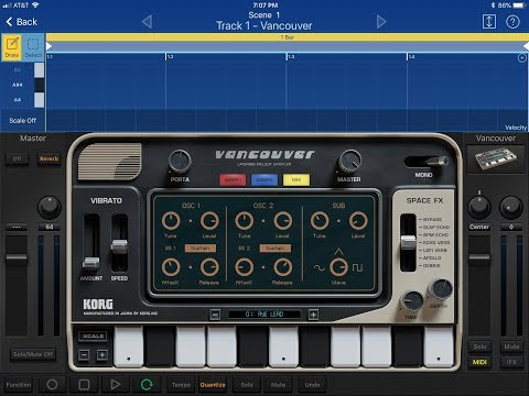 New Korg Gadget Vancouver, using your own samples, plus first look on Apple iOS