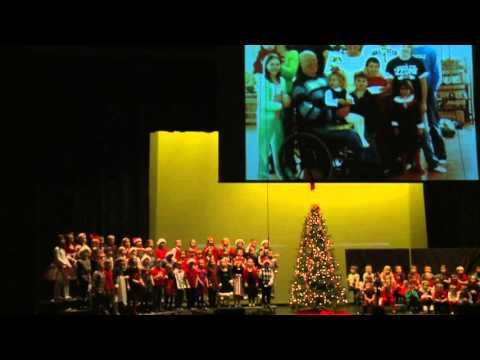 Boyne City Elementary School Christmas Sing 2012 KD and Second  7:30 Show Part I