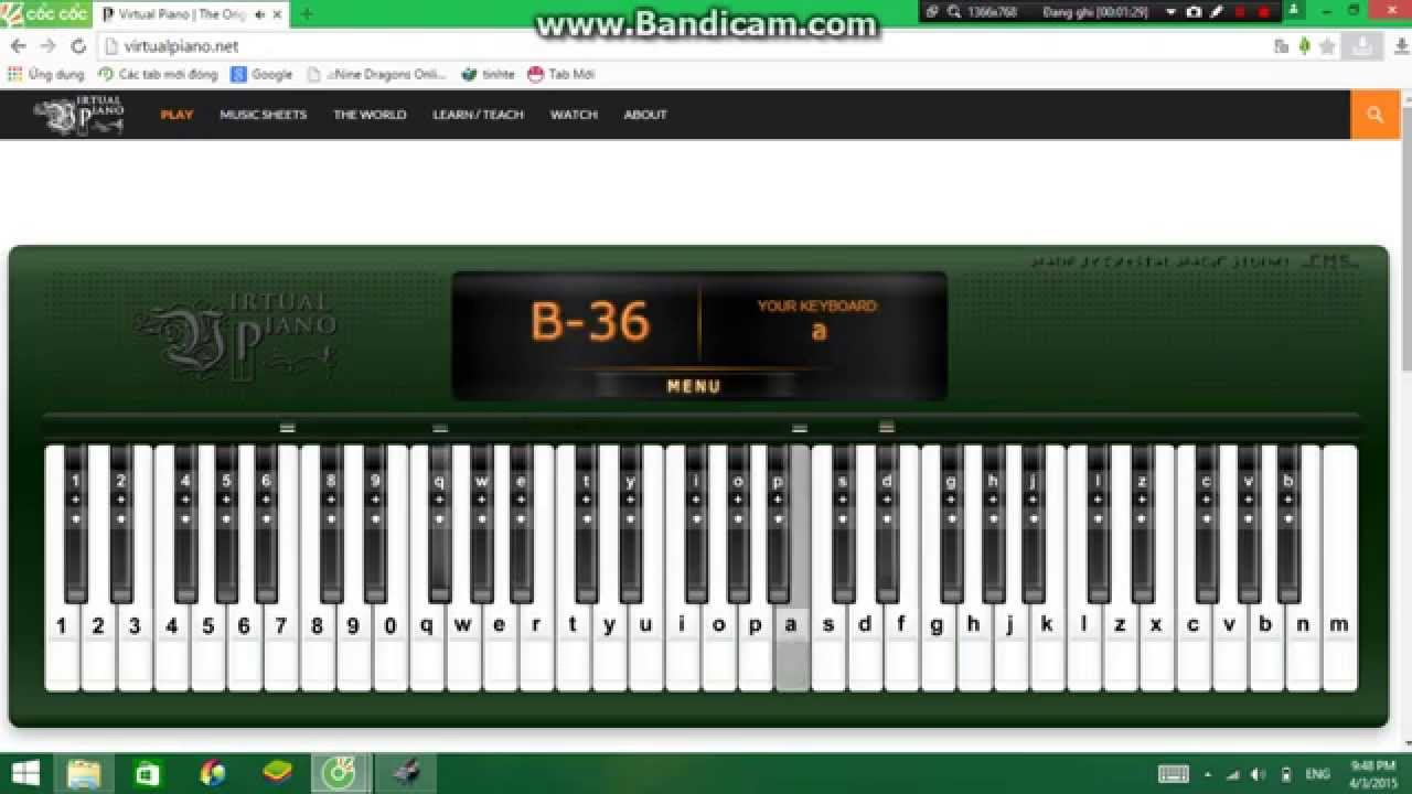 Believer virtual piano