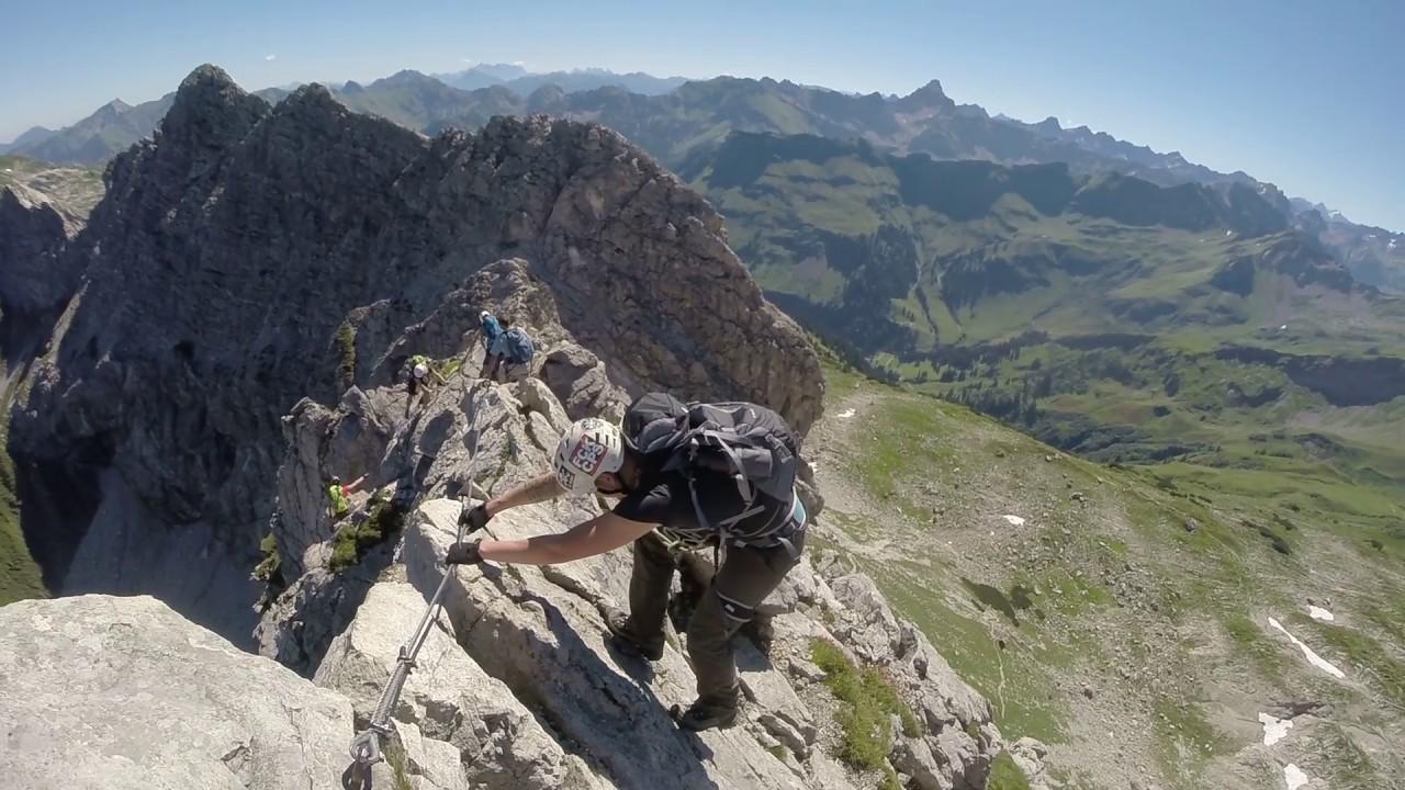 Klettersteigset Test 2016 : Hindelanger klettersteig nebelhorn youtube