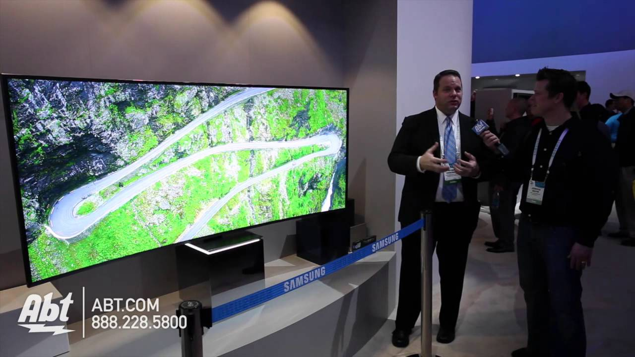 samsung 82 21 9 curved suhdtv ces 2015 youtube. Black Bedroom Furniture Sets. Home Design Ideas