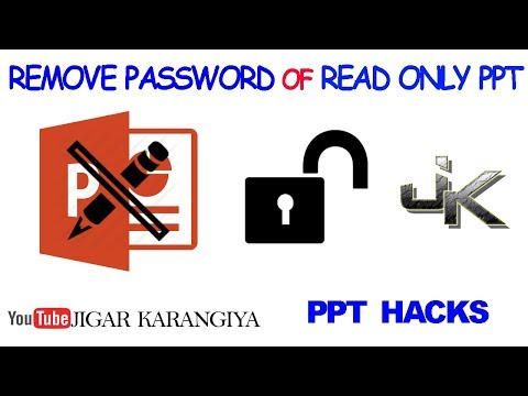 How To Remove Password Of Read Only PPT And Modify It | Jigar Karangiya