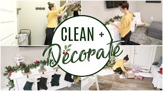CLEAN WITH ME   CLEAN AND DECORATE WITH ME FOR CHRISTMAS    CLEANING MOTIVATION
