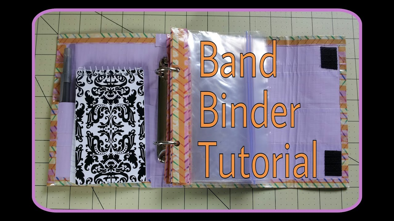 Diy Duct Tape Rainbow Loom Band Binder Tutorial Youtube
