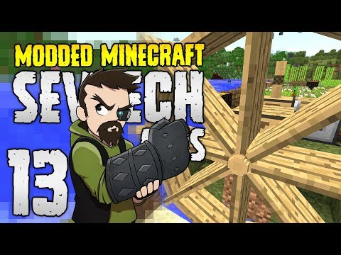 Minecraft SevTech: Ages | 13 | WaterWHEEL POWER!!! | Modded Minecraft 1.12.2