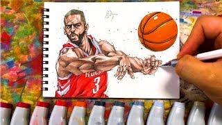 Drawing technique, Chris Paul - Houston Rockets -