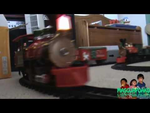 3  G Scale Trains  2 Train Tracks 1 Train Wreck