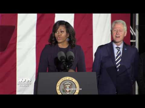 2016 Election Eve Rally: President Barack Obama, Michelle Obama, Hillary Clinton and Bill Clinton