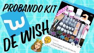 Uñas Acrilicas con un Kit de Uñas Comprado en Wish
