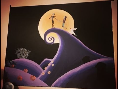 nightmare before christmas wall mural joshua and tammy. Black Bedroom Furniture Sets. Home Design Ideas